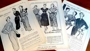 3 Rare Franz Original 50erj Schnittmuster Patron Damen Kleider 42 Wasserdicht StoßFest Und Antimagnetisch Nähen