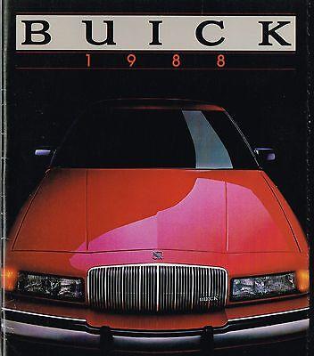 Riviera PROSPEKT BROCHURE 1988 Buick Electra Park Avenue LeSabre USA