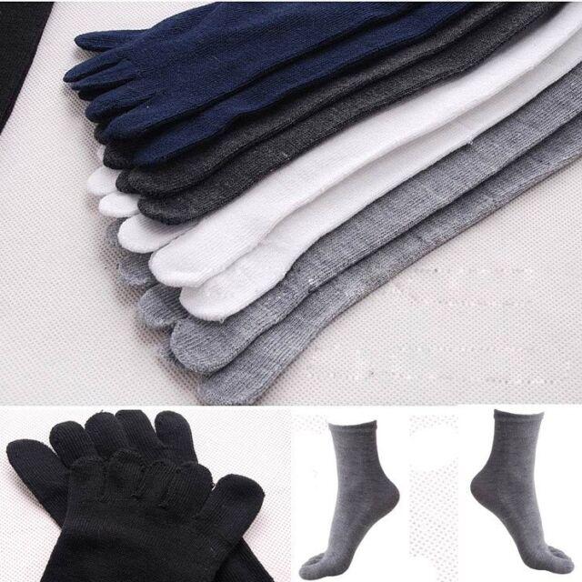 Hot Sale Men's Women's Soft Socks Pure Cotton Sports Five Finger Socks Toe Socks