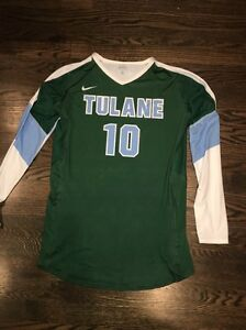 Game Worn Tulane Green Wave Volleyball Jersey Used Nike Women's #10 Size L