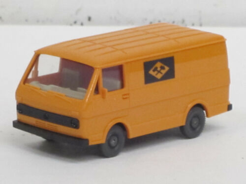 "VW LT 28 Kastenwagen in gelborange /""Zeche/"" Wiking 1:87 Boden schwarz o.OVP"