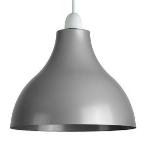 Industrial retro style ceiling pendant light shade gloss grey metal image is loading industrial retro style ceiling pendant light shade gloss aloadofball Choice Image