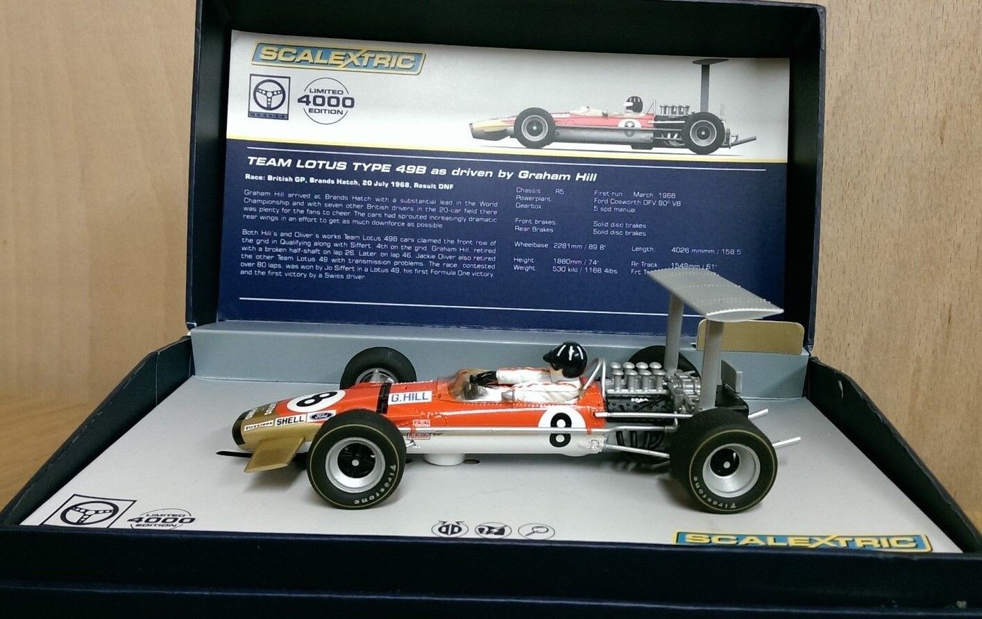SCALEXTRIC C3543AT Team Lotus Type 49B Graham Hill No.8 Factory Sample NEW