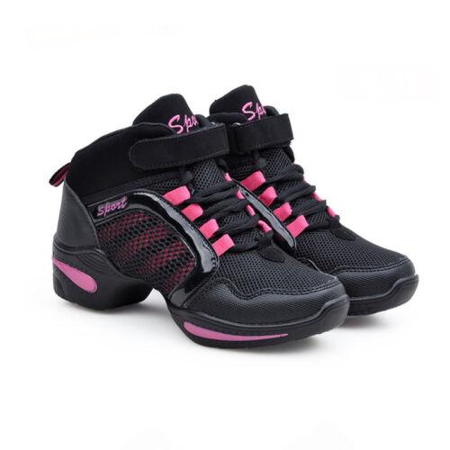 Women Dance Shoes Breathable Modern Jazz Hip Hop Sport Sneakers Mesh Cool Sbox14