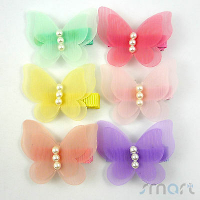 1PC Mixed Color Chevron Design Bowknot Hair Clip Accessories For Kid Girl 7.5cm