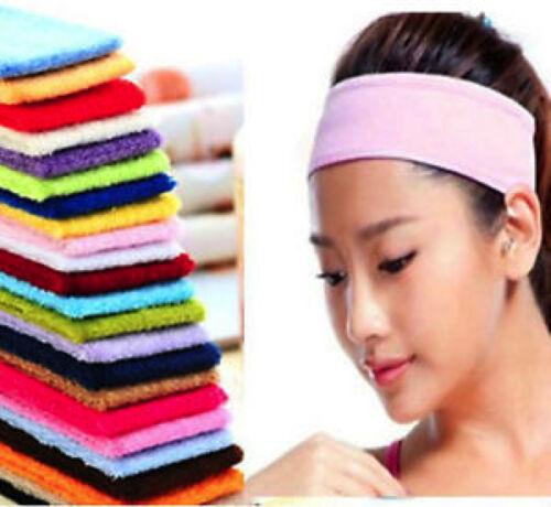 Onorevoli Donne Sportive Plain Cerchietto Yoga SWEATBAND GYM STRETCH Hairband