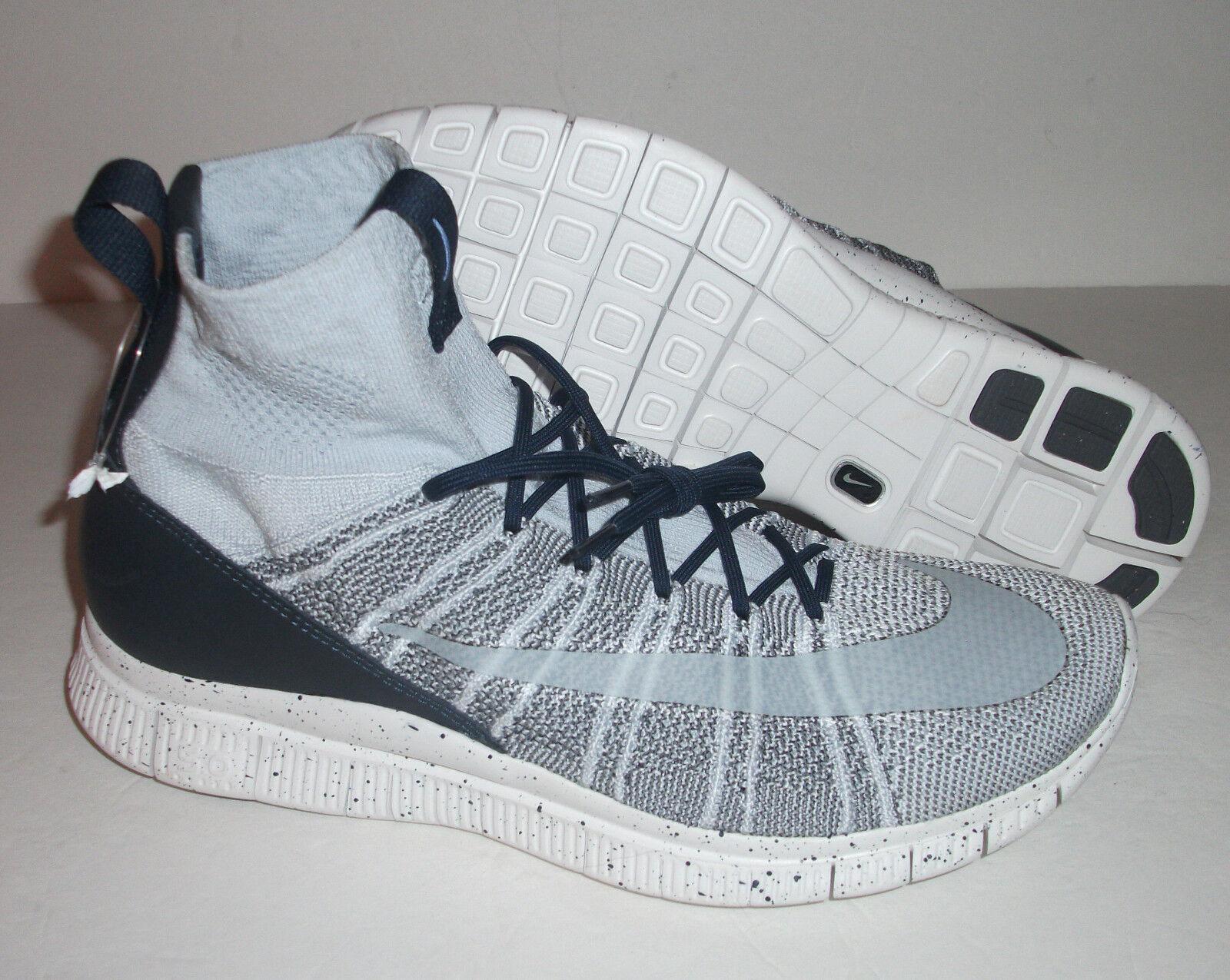 New Men's Nike Free Flyknit Mercurial, Men's New Size 13, Platinum/Grey, 805554-001 bbf498