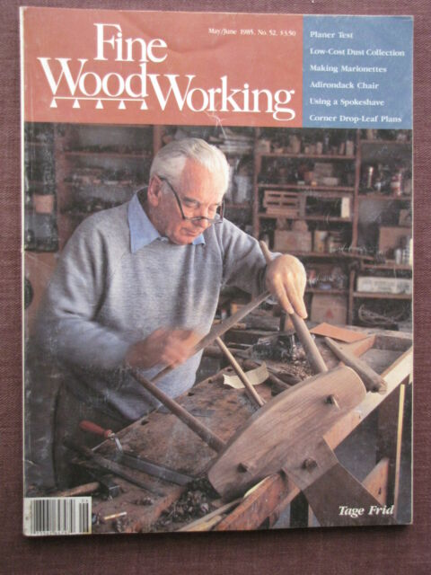Fine Woodworking Magazine No 52 May June 1985 Tage Frid
