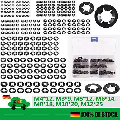 260x Innenzahn-Starlock Sicherungsscheiben Klemmscheiben M3-M12 Sortiment Set DE