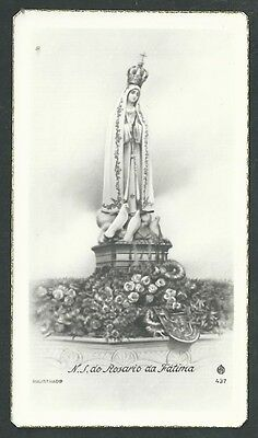 Abundante Estampa Antigua Virgen De Fatima Andachtsbild Santino Holy Card Santini