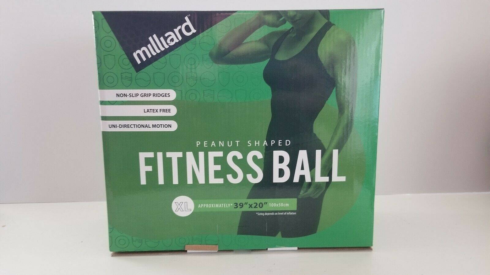 Physio Roll 80x40cm Milliard Anti-Burst Peanut Ball Approximately 31x15
