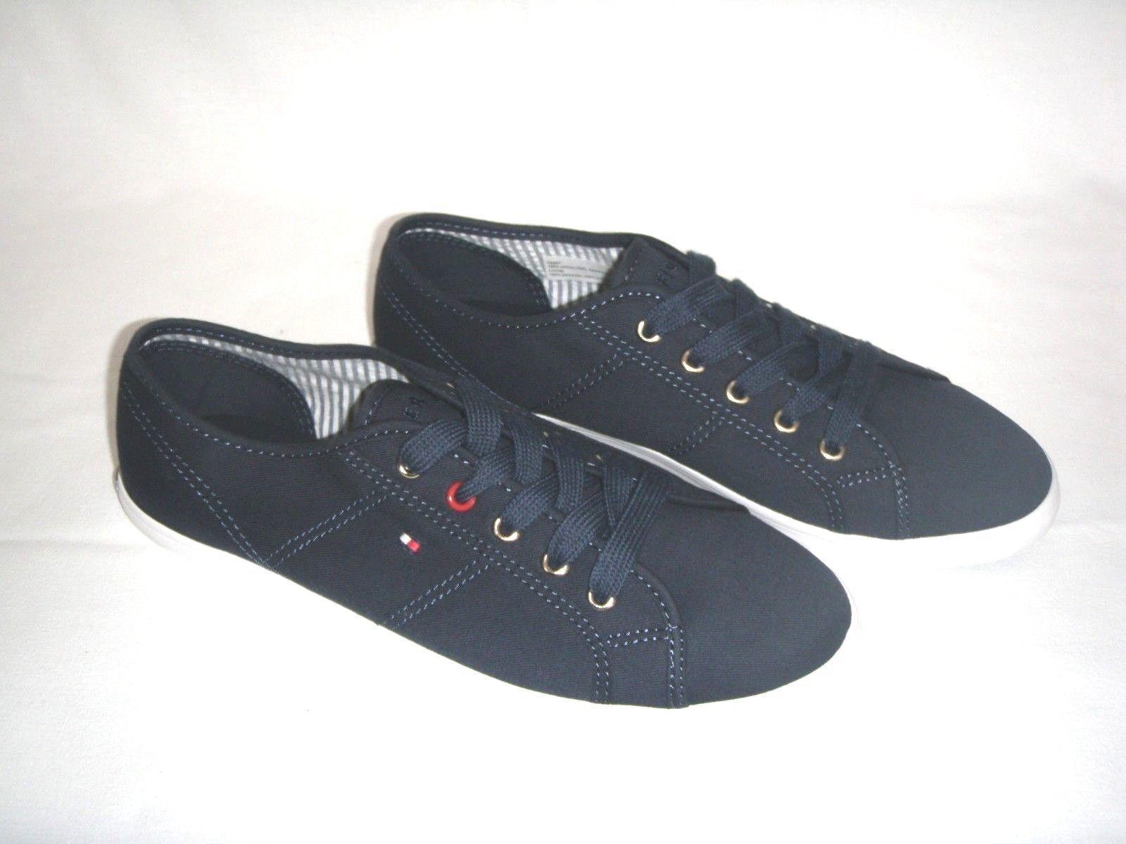 Schuhe Damenschuhe Freizeitschuhe Tommy Hilfiger Gr.41 Sneaker Canvas Dunkelblau Gr.41 Hilfiger 5d9e2e