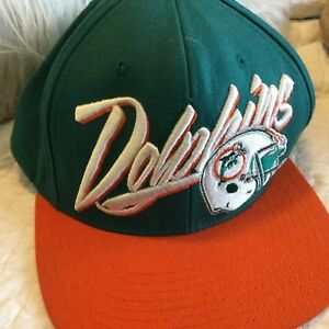 702f3c5c0 Details about Mitchell & Ness NFL Vintage Collection Miami Dolphins  SnapBack Hat Wool NWOT