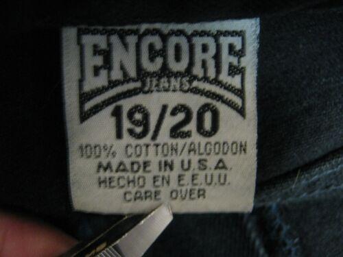 80's 20 Taglia Denim Encore 19 Jeans Leg Black Flashback Vita Tapered alta wA4np