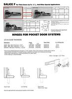 1 Pair Salice Full Overlay Self Closing Thick Door Hinge cfa7a99 With 4 Plt Building Supplies
