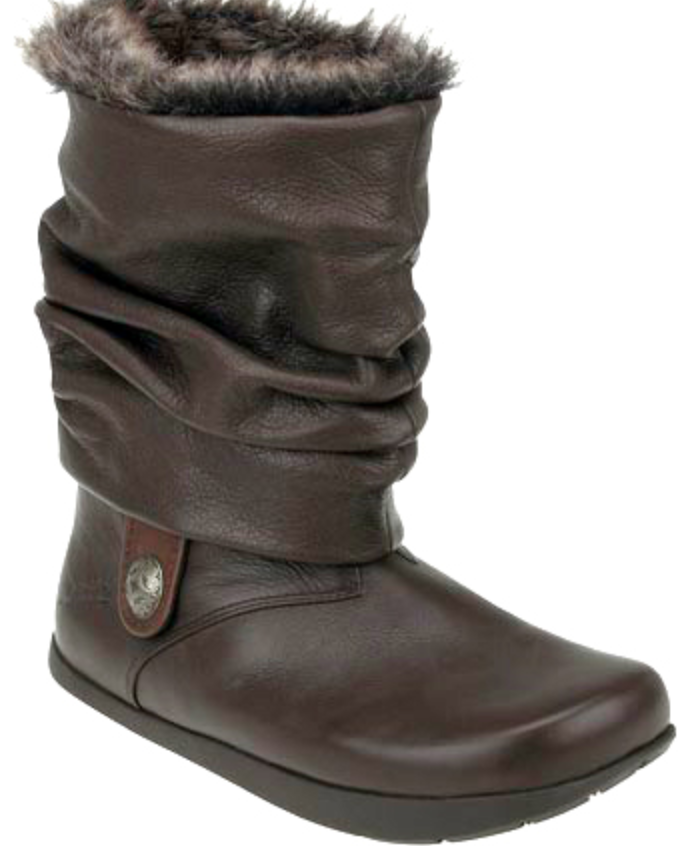 NEW KALSO EARTH SHANNON LEATHER MID BOOTS WOMENS 5 FUR LINED