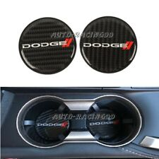 2x Dodge Carbon Fiber Car Cup Holder Pad Water Cup Slot Non-Slip Mat Accessories