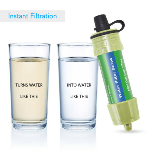 Camping Straw Water Filter Portable Hiking Personal Purifier Survival Tool K2N0