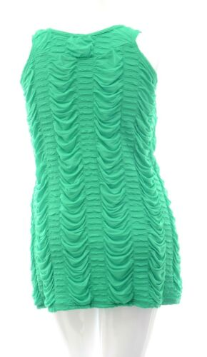 Womens Gorgeous Green Ruched Pleat Top Sleeveless BNWT Ladies *LICK*
