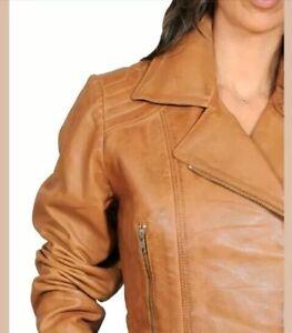 Veste de couleur cuir chameau 12 en vᄄᆭritable bgyY7f6