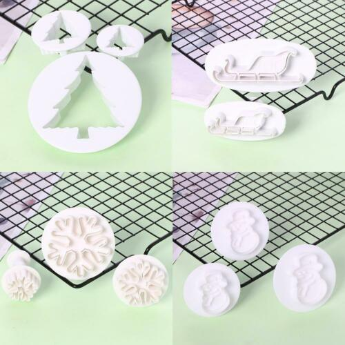 Christmas Plunger Fondant Cookie Cutter Biscuit Cake TOP Baking Mold Decor M8Z1