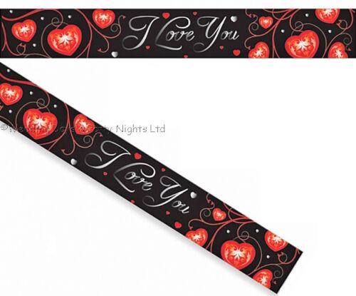 15ft I Love You Foil Banner Engagement Wedding Valentine Day Party Decoration