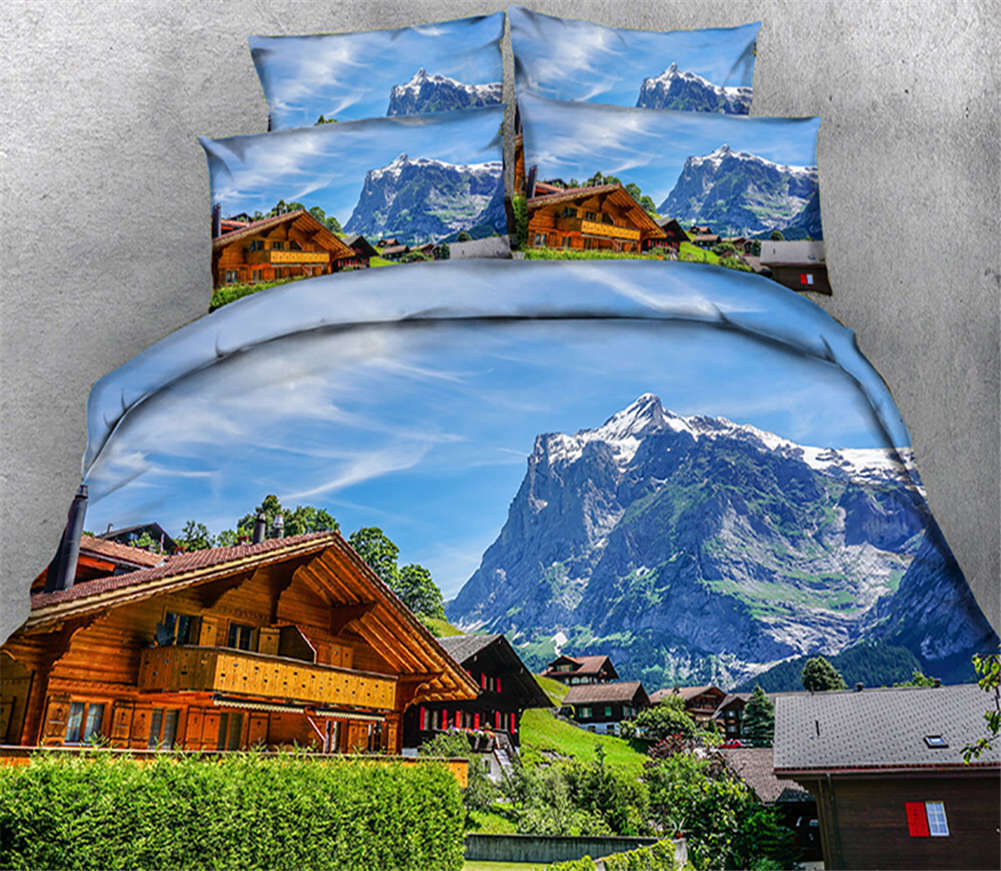 Remote Cidy Hill 3D Printing Duvet Quilt Doona Covers Pillow Case Bedding Sets
