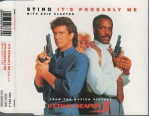 Sting-Eric-Clapton-It-039-s-Probably-Me-CD-MAXI-lethal-weapon-3