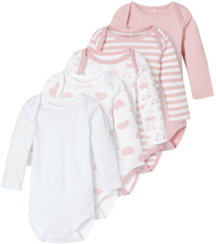 Name it Baby Mädchen Langarmbody 5er Pack Gr 50-98 NBFBODY 5P LS