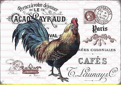 Bügelbilder 1693 Kaufe Jetzt Basteln & Kreativität Bügelbild Shabby Hahn Postkarte Chic Schrift Paris French Vintage A4 No