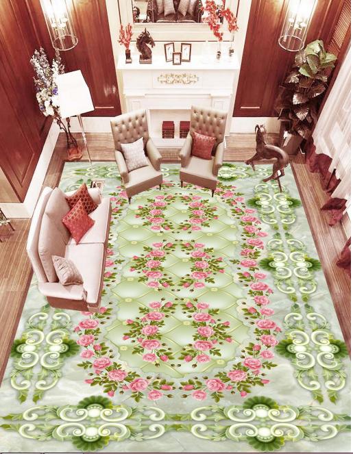 3D Flower Pattern 5085 Floor WallPaper Murals Wallpaper Mural Print AJ AU Lemon