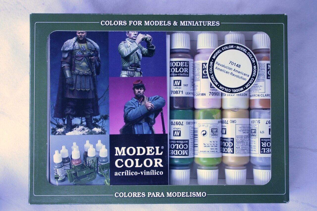 VAL70148  Model color Set - American Revolution vallejo paint set 16 colours