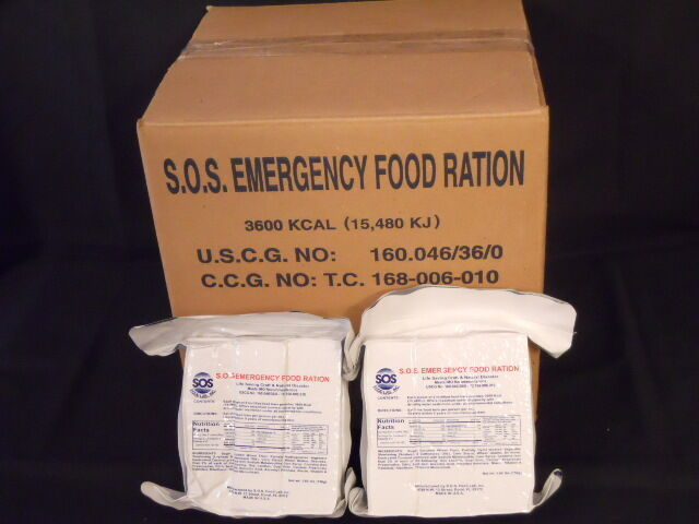 LOT OF (8) 3600 CALORIE EMERGENCY FOOD RATIONS SURVIVAL DISASTER HUNTING FISHING