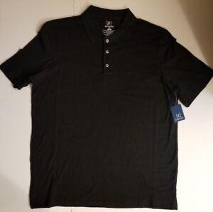 George-Mens-Black-Polo-Short-Sleeve-Work-Golf-Button-Shirt-XS-S-L-XL-NWT-FAST