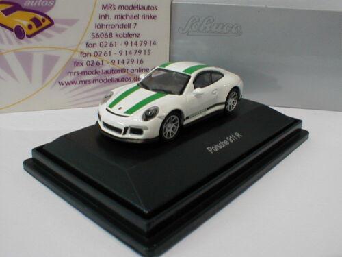 """2016 in /"""" weiß-grün /"""" 1:87 NEUHEIT !! Schuco 26300 Porsche 911 R Typ 991 Bj"""
