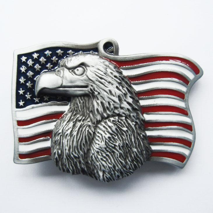 EAGLE Flag Gürtelschnalle Buckle Wechselschnalle Western US Country Cowboy Adler