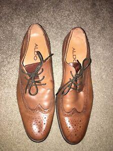 Men-039-s-Aldo-Brown-dress-shoes-size-41-US-8