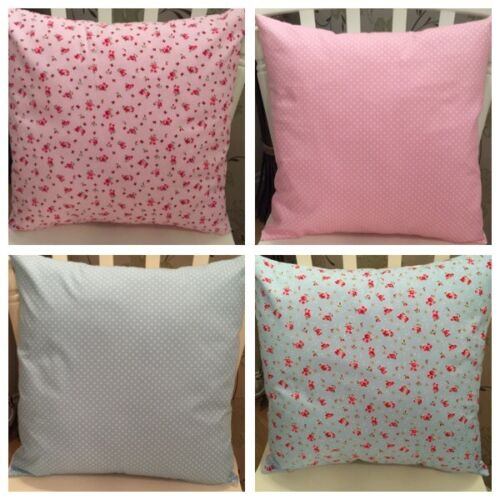 """4 Rose /& Hubble Pink Blue Vintage Floral Cushion Covers 16/"""" Pink Shabby Chic"""