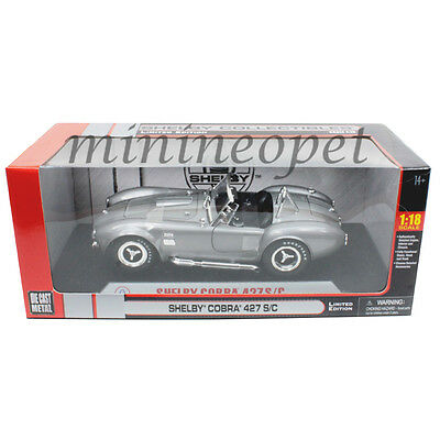 SHELBY COLLECTIBLES SC137 SHELBY COBRA 427 S/C 1/18 GREY with SILVER STRIPES