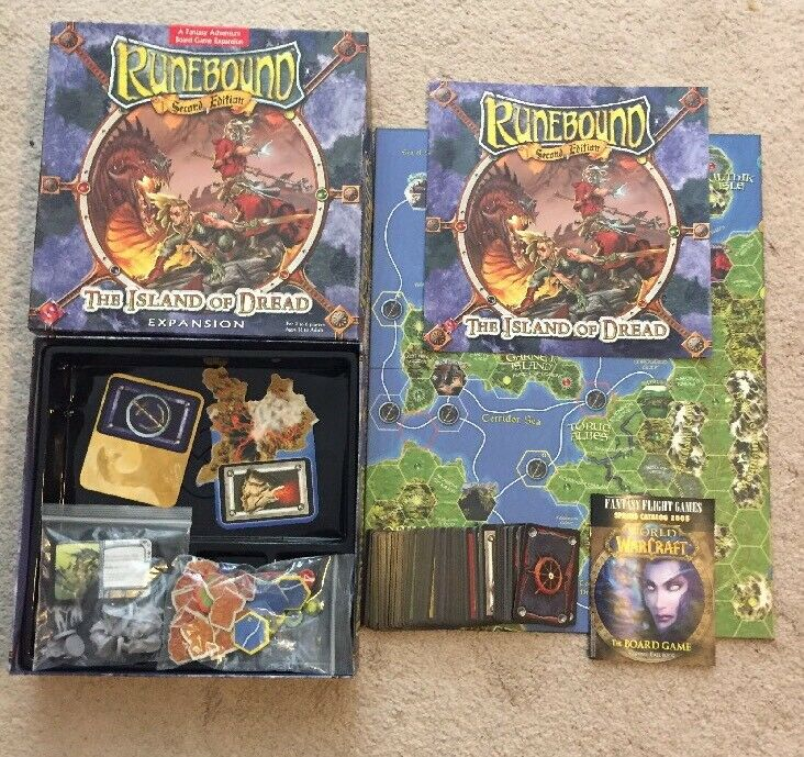 Board Board Board Game Runebound Expansion 2nd The Island of Dread 2005 Complete FFG USA 23dde9