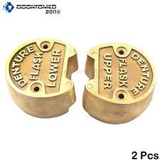Original Brass Dental Denture Upper Amp Lower Flask New Lab Bronze Compress Dn 422