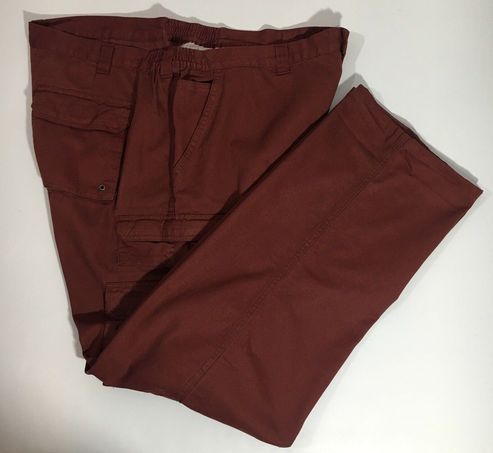 Mens Big And Tall Red Cargo Utility Pants size 44 x 34