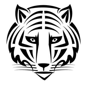 decals emblems licence frames Toyota Corolla VVT-i Decal On tiger head face car decal sticker