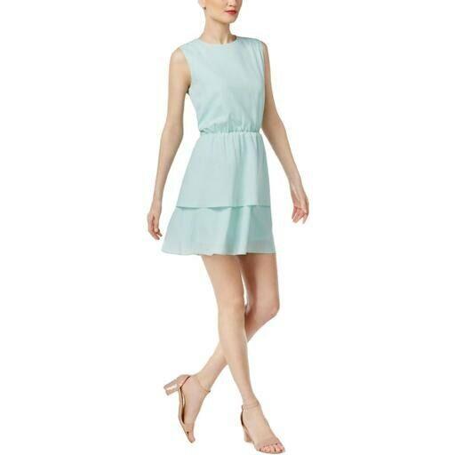 CR Cynthia Rowley Sleeveless Studded Tierot Cocktail Dress Größe Medium