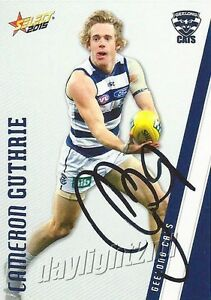 Signed-2015-GEELONG-CATS-AFL-Card-CAMERON-GUTHRIE
