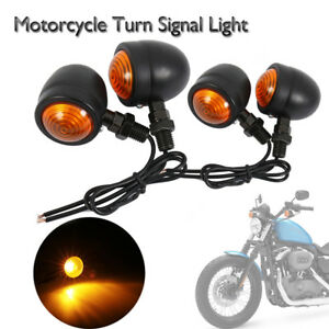 2-Pezzi-Indicatore-di-direzione-Fercce-LED-Ambra-Universale-Nero-10W-Per-Moto