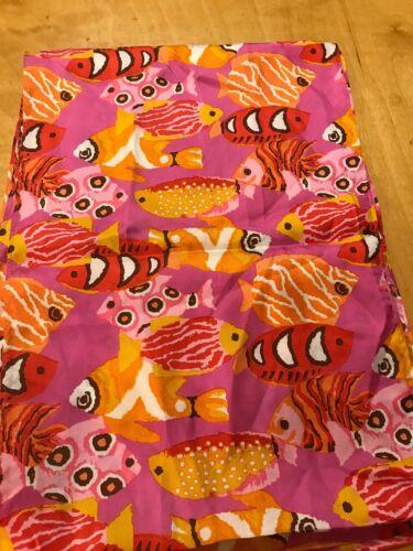 NWT Womens Echo Silk Scarf Pink Fish S11