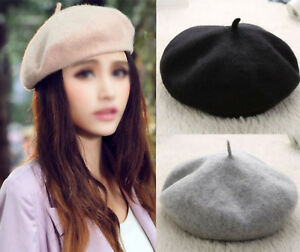 Fashion Soft WarmWinter Women s French Berets Tam Beanie Slouch Hats ... f8f6cf36c20