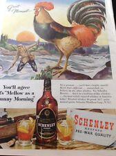 N1-6 Ephemera 1956 Advert Schenley Reserve Distillers New York