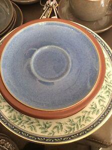 Denby Juice Saucers Blue And Brown | eBay